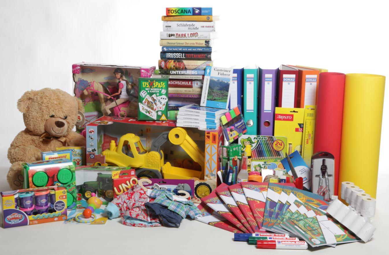 Überblick über das reichhaltige Angebot an Waren beim Krauth - Bücher Papier Spielwaren