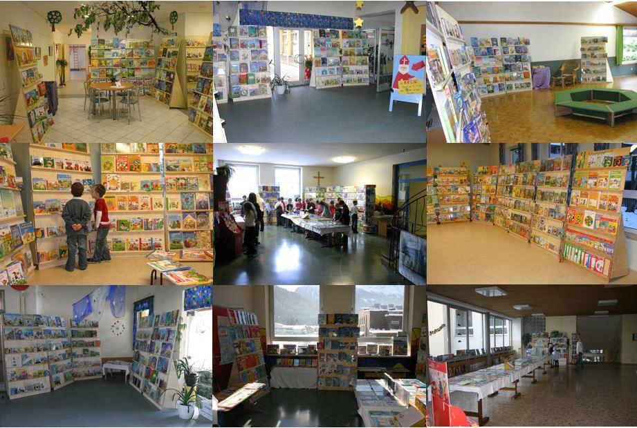 Collage Buchausstellungen beim Krauth