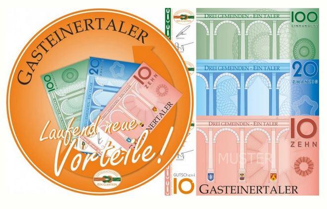beim Krauth Gasteinertaler - wir akzeptieren den Gasteinertaler, die neue Regionalwährung im Gasteinertal mit zahlreichen attraktiven Angeboten