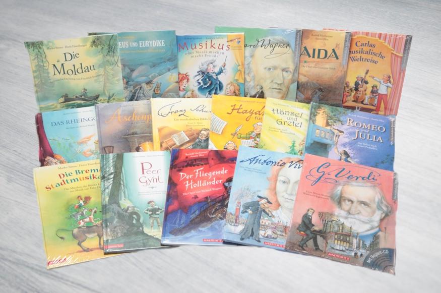 beim Krauth Musikbücher für Kinder, zum Teil mit CD
