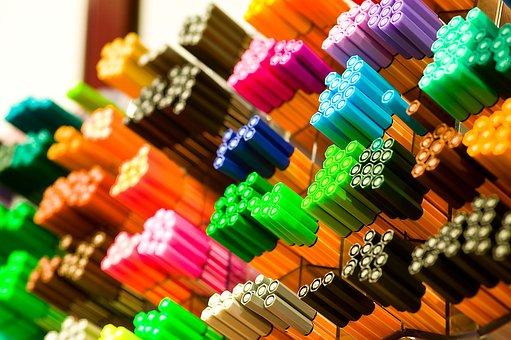 verschiedenen Farben Stabilo