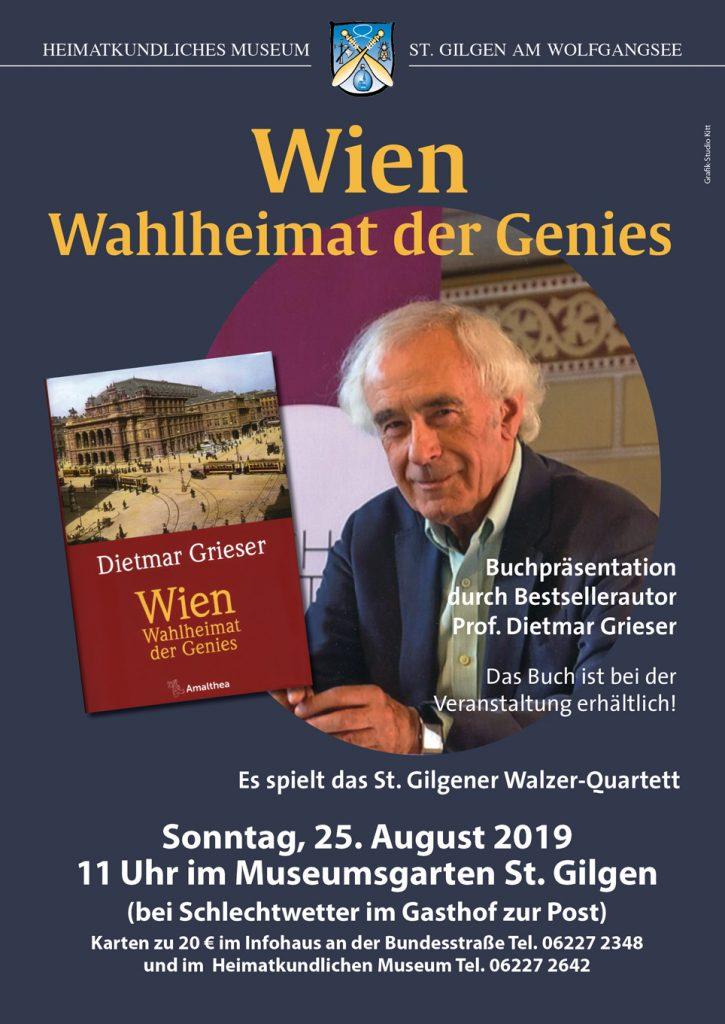 beim Krauth Büchertisch bei der Lesung von Dietmar Grieser in St. Gilgen, 25. August 2020