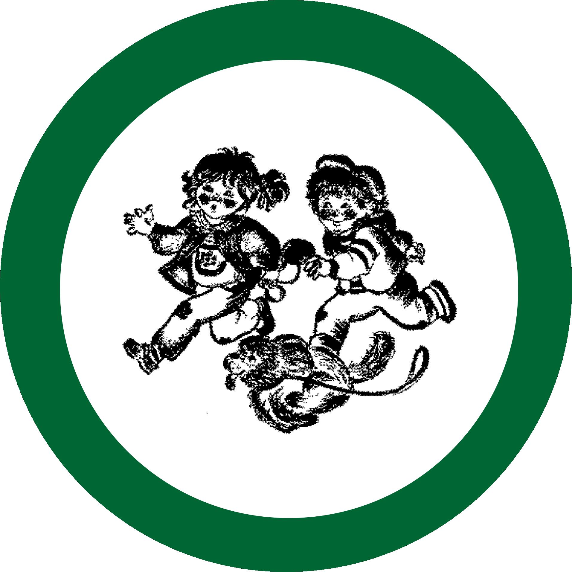 beim Krauth Logo laufende Kinder mit Hund in einem grünen Kreis